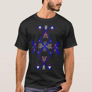 Camisa azul vermelha da arte T de Amazigh