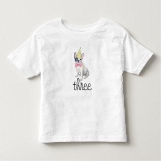 Camisa bonito do aniversário do cão de filhote de