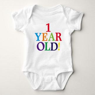 Camisa bonito velha do bebê do aniversário do bebê