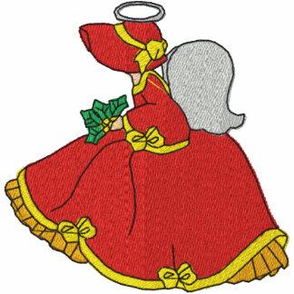 Camisa bordada anjo do Victorian Jaqueta De Moleton Bordada Com Capuz