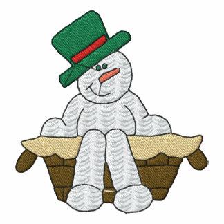 Camisa bordada boneco de neve