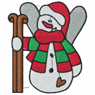 Camisa bordada boneco de neve do esqui