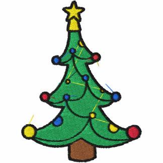 Camisa bordada da árvore de Natal
