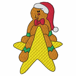 Camisa bordada estrela do homem de pão-de-espécie moleton bordado