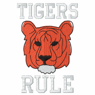 Camisa bordada tigre jaqueta esportiva