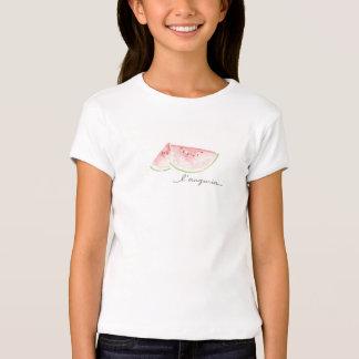 Camisa branca com design da melancia da aguarela tshirt