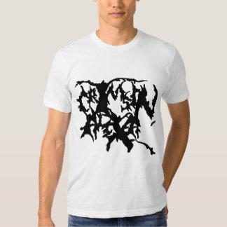 Camisa carmesim do logotipo de Alexa - branco Camiseta