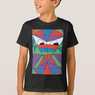Camisa colorida do abstrato do homem