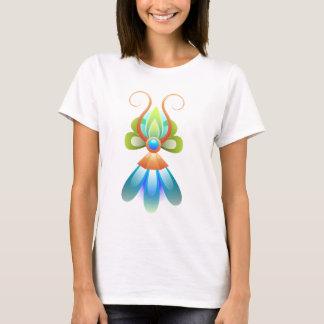 Camisa com motivo abstrato do azul e do verde