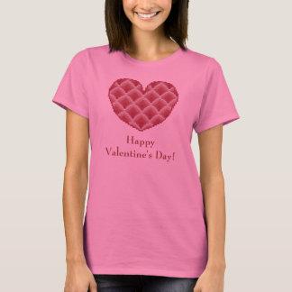 Camisa cor-de-rosa do coração do feliz dia dos
