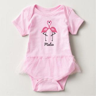 Camisa cor-de-rosa do tutu do flamingo