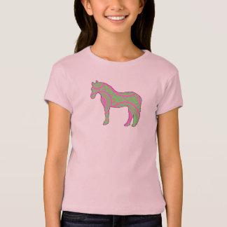 Camisa cor-de-rosa e verde do pônei de Paisley