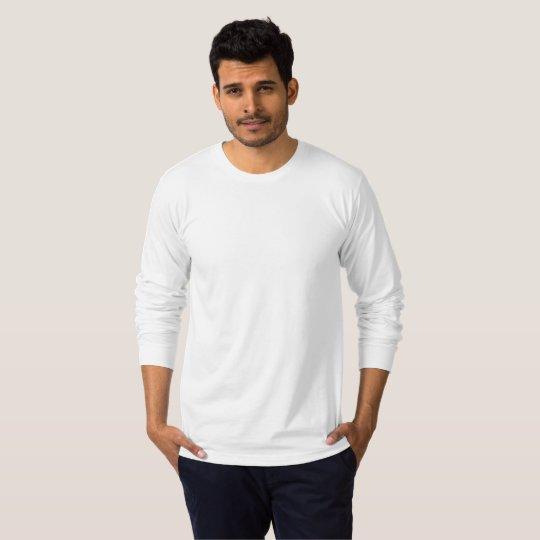 Camiseta Masculina Fine Jersey de Manga Longa, Branco