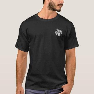 Camisa cruzada preto e branco dos machados de