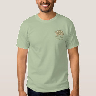 Camisa customizável do bordado da tartaruga da