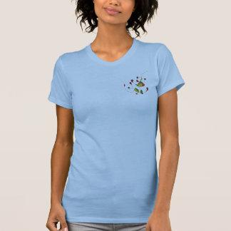 camisa da arte abstracta T