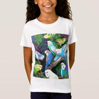 Camisa da boneca das meninas dos Parakeets e das
