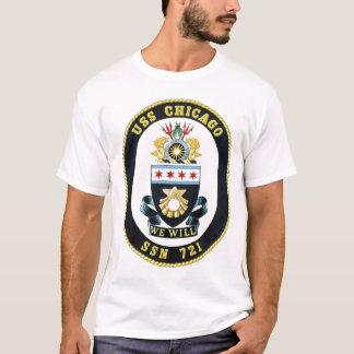 Camisa da brasão t de USS Chicago