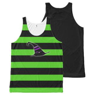 Camisa da bruxa do Dia das Bruxas Regata Com Estampa Completa