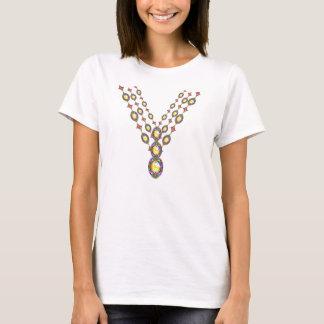 Camisa da colar do topázio do falso do ouro do