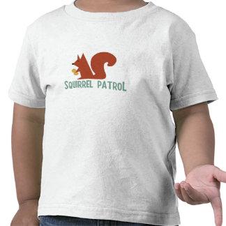 Camisa da criança da patrulha do esquilo camiseta