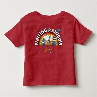 Camisa da criança do arco-íris da escrita