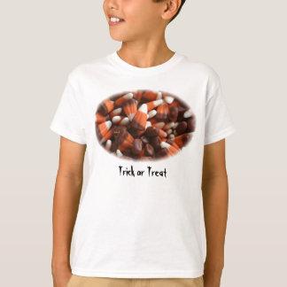 Camisa da doçura ou travessura do milho de doces