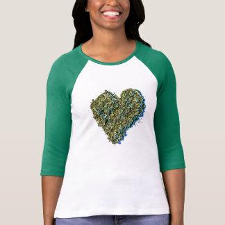 Camisa da erva daninha do coração