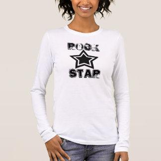 Camisa da estrela do rock, preto e branco