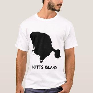 Camisa da ilha de Gotts - preto contínuo