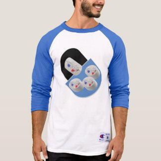 Camisa da luva do Raglan 3/4 do campeão dos homens