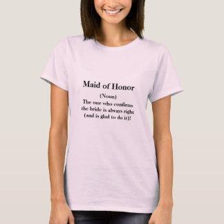 Camisa da madrinha de casamento T -- Casamento da