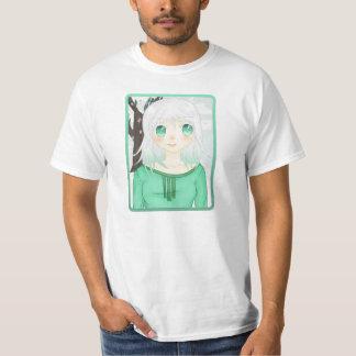Camisa da menina da neve do Anime Camiseta