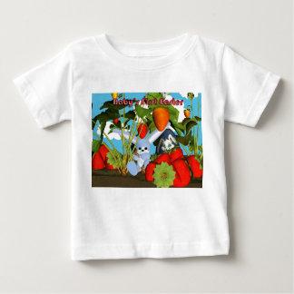 Camisa da páscoa T do bebê primeira, com coelho e