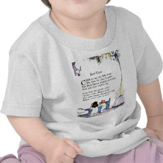 Camisa da rima das horas de dormir do vintage camisetas