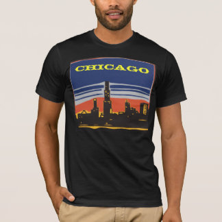 Camisa da skyline de Chicago