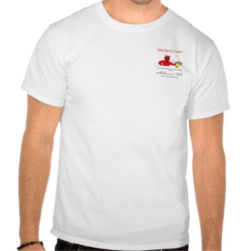 Camisa da verificação do sutiã do antro do diabo t-shirt
