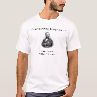 Camisa das citações do general Sherman T-shirt