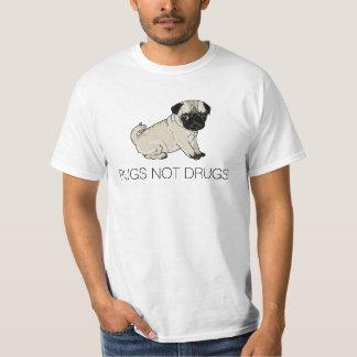 Camisa das drogas dos Pugs não Tshirt