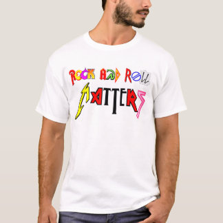 Camisa das matérias do rock and roll