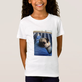 Camisa das meninas t do Pug