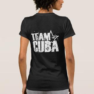 Camisa das senhoras de Cuba da equipe - etiqueta d Camiseta
