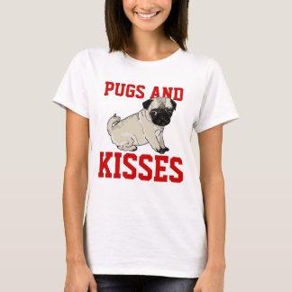 Camisa das senhoras dos Pugs e dos beijos