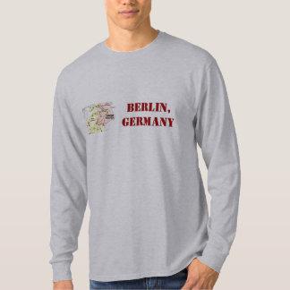 Camisa de Berlim, Alemanha com mapa retro T-shirts