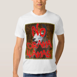 Camisa de BronzeGold do lama do drama - NENHUNS T-shirts
