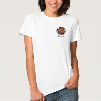camisa de Brooche do vintage Camisetas