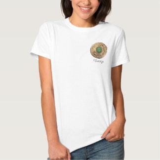 camisa de Brooche do vintage Tshirts