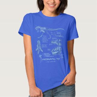 Camisa de esqueleto do tiranossauro profundamente camiseta