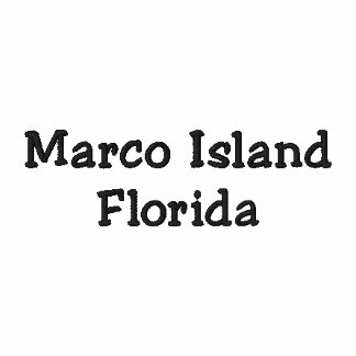 Camisa de Florida FL da ilha de Marco - customizáv Camiseta Bordada Polo
