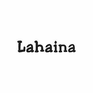 Camisa de Lahaina Maui Havaí - customizável!!! Camiseta Bordada Polo